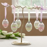 Cheap Tree Ornaments: Easter Egg Ornament Tree Display Stand
