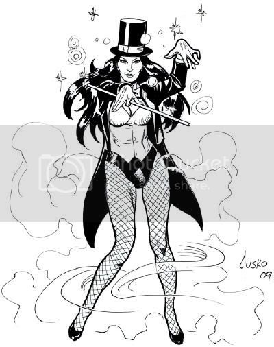 Justice League Detroit: 2009 Zatanna Convention Sketch by