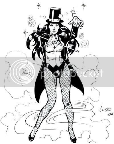 Justice League Detroit: 2009 Zatanna Convention Sketch by