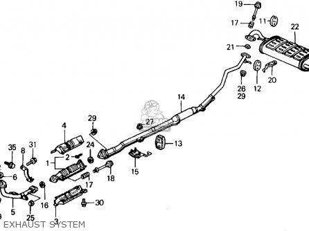 Wiring Diagram: 27 1997 Honda Civic Exhaust System Diagram