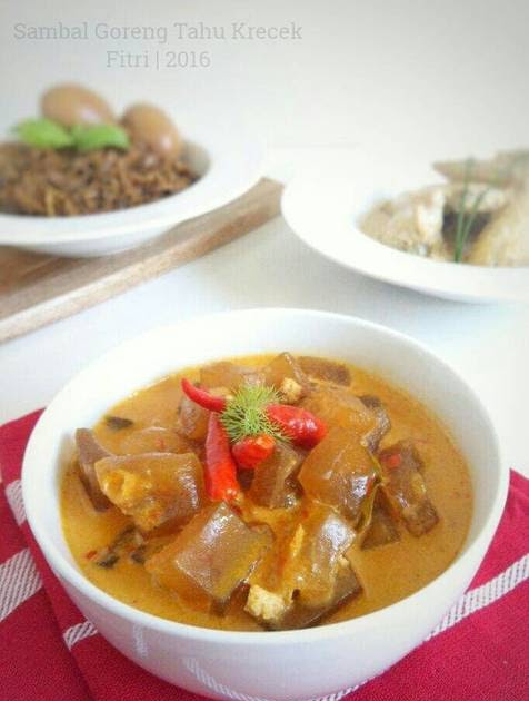 Sambal Goreng Tahu : sambal, goreng, Sambal, Goreng, Krecek, Fitri, Sasmaya, Resep, Masakan
