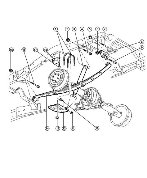 2004 Dodge Neon Rear Suspension Diagram / Right Rear