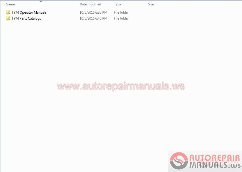 Auto Repair Manuals: TYM Full Set Parts Manuals & Operator