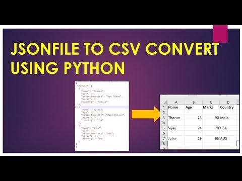 Json to Csv convert using Python