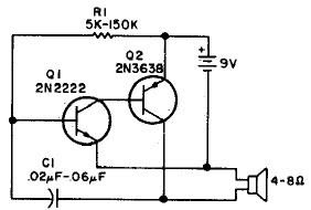 Simple audio oscillator circuit and explanation