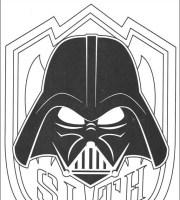 Darth Vader Maske Ausmalbild   Malvorlagen