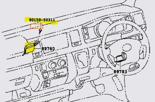 2002 Toyota Hiace Fuse Box Location