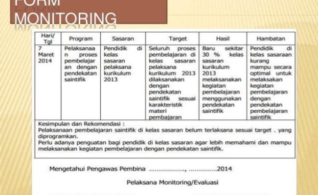 Contoh Laporan Hasil Monitoring Dan Evaluasi Kumpulan Contoh Laporan Cute766
