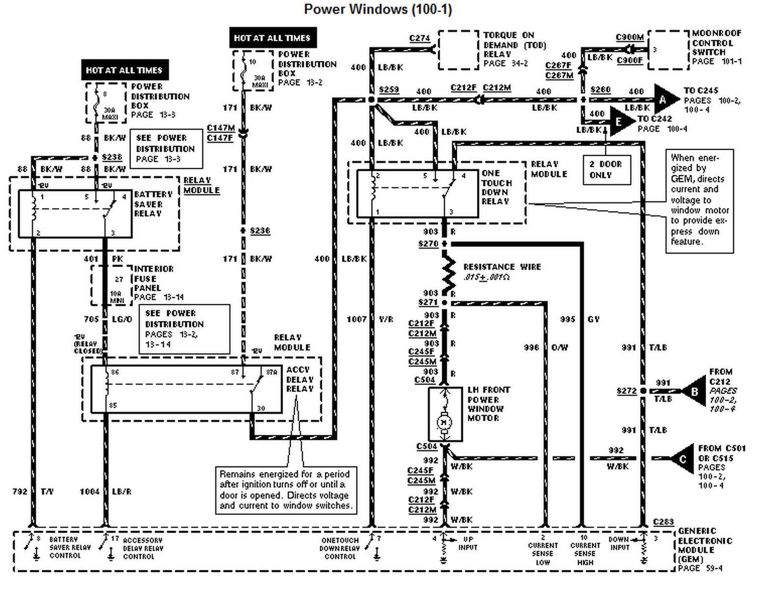 1997 Ford Explorer Radio Wiring Diagram