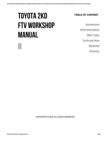 Bestseller: Toyota 2kd Ftv Engine Repair Manual Pdf