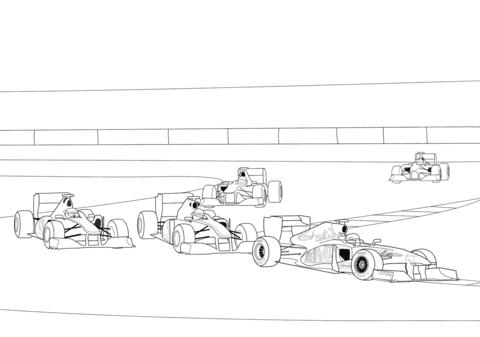 dessin à imprimer: Dessin Imprimer Formule 1