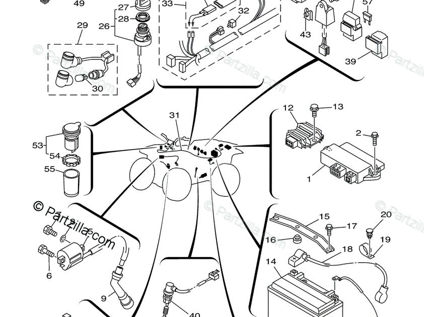 Yamaha Big Bear 350 4X4 Wiring Diagram : Yamaha Bruin 250