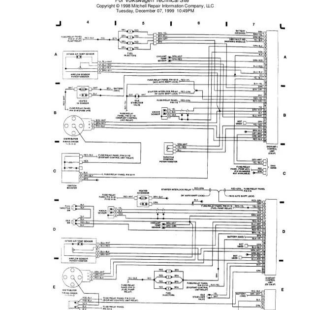 1991 Passat Wiring Diagram