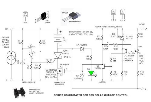 small resolution of home solar series commutated scr sss solar charge control