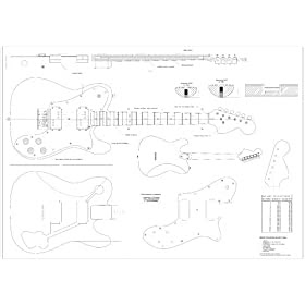 Electric Guitar: Full Scale Plans for the Fender
