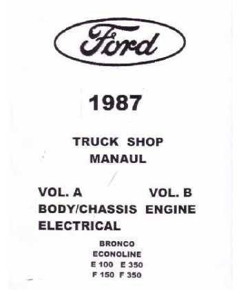 Ford F150: 1987 FORD TRUCK F150-F350 ECONOLINE Service Manual