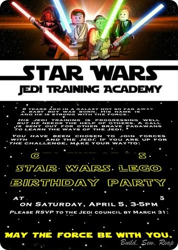 Build Sew Reap Star Wars Lego 6th Birthday Party