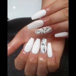 White Marble Coffin Nails Nail And Manicure Trends