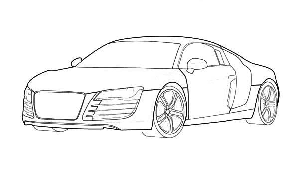 Audi R8 Kleurplaat