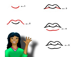 lips cartoon draw easy mouth mouths step drawing jos steps gandos clipart coloring pages clipartbest