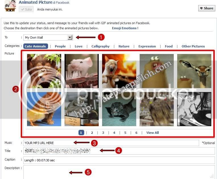 Kirim Gambar Animasi ke Wall Facebook  IN FOR MASI