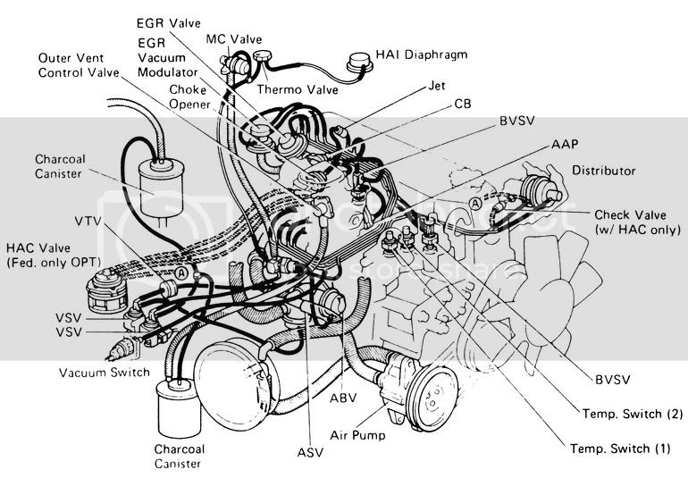 1992 Toyotum Pickup Engine Diagram