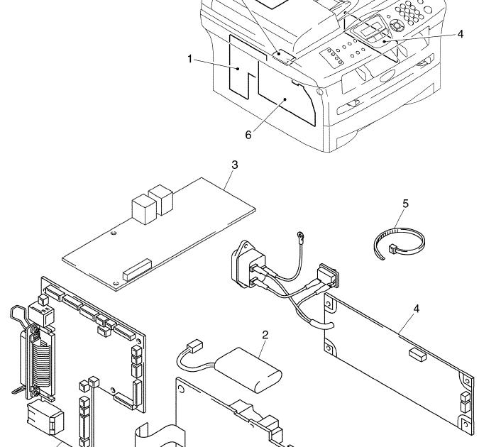 Wiring Diagram: 31 Brother Printer Parts Diagram