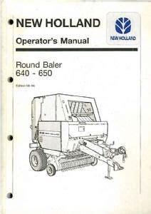 Download PDF Online new holland 640 baler manual Reader