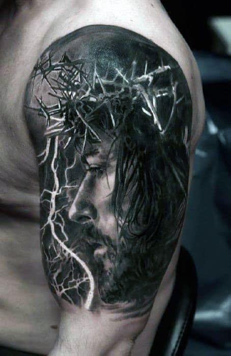 Jesus Tattoos For Men : jesus, tattoos, Tattoos, Jesus, Gallery