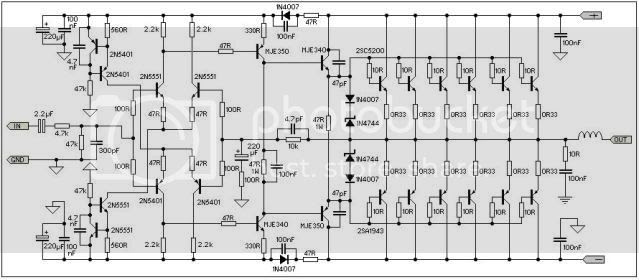 Draw your wiring : Sakura Amp Circuit