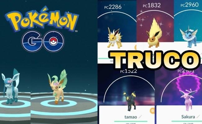 Todas Las Evoluciones De Eevee Por Nombre Consigue Glaceon Y Leafeon Sin Cebo Trucos Pokemon Go Dokter Andalan