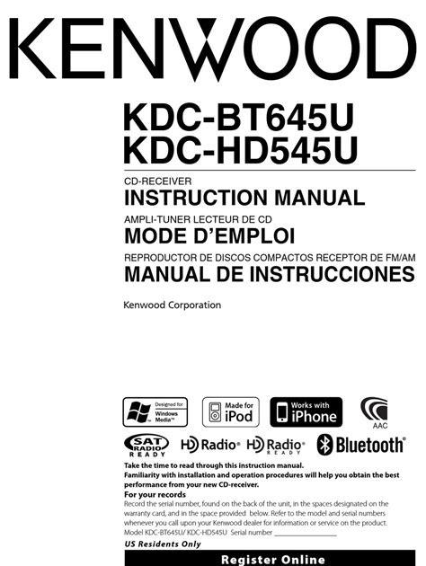 Free Read kenwood kdc bt645u user manual Kindle Edition