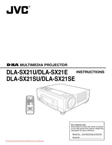 Download Ebook jvc dla sx21u dla sx21e projector service