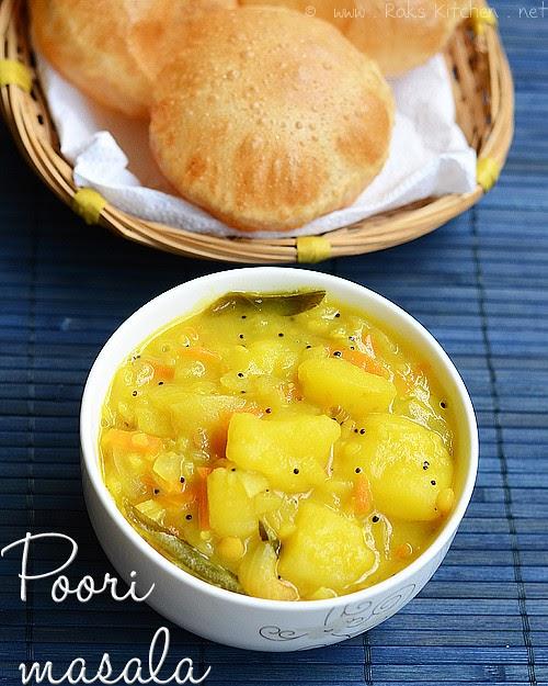 Poori Masala Recipe, Potato Masala For Puri  Raks Kitchen