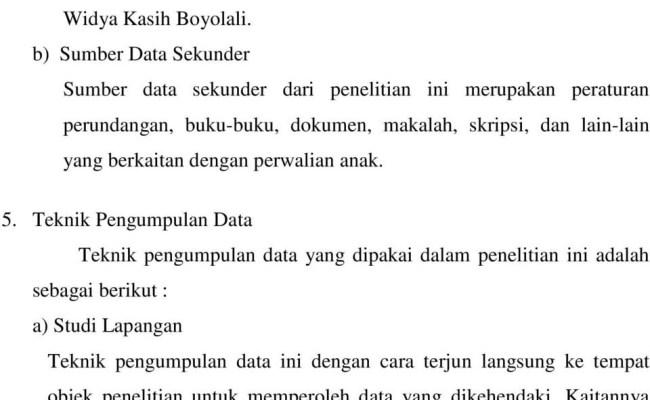 Data Primer Dan Data Sekunder Skripsi Kumpulan Berbagai Skripsi Resep Kuini