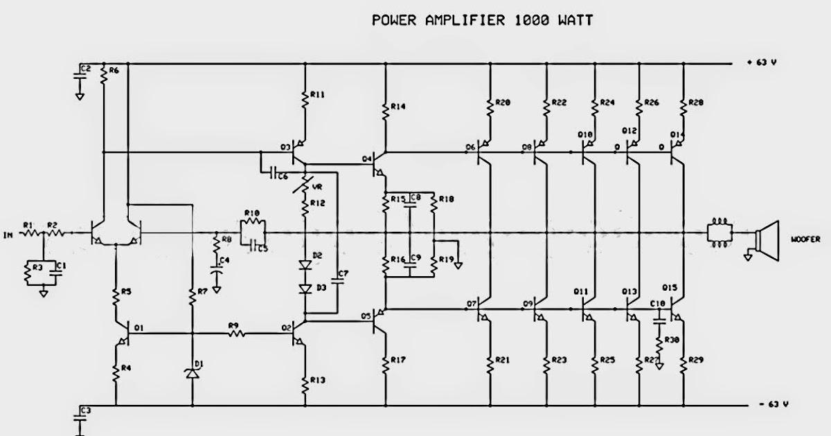 I'm Yahica: 1000w Audio Amplifier Circuit Diagram