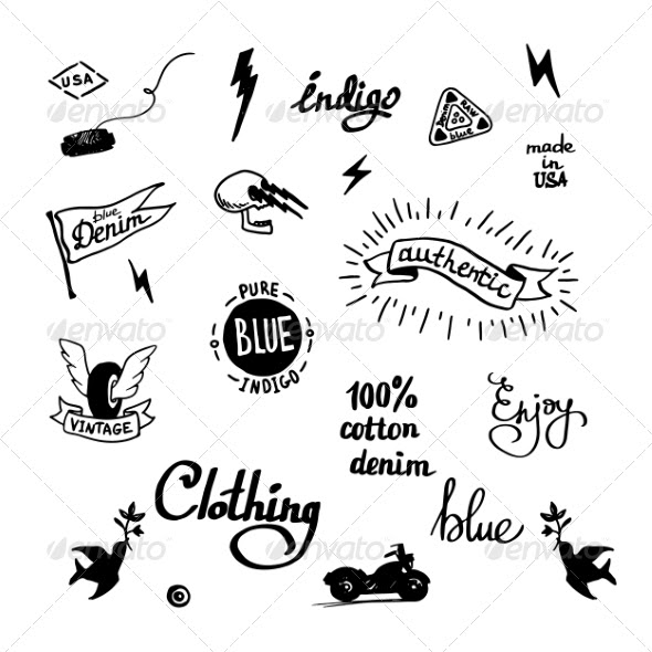 Old School Denim Biker Symbols (Tattoos) Download ~ Best
