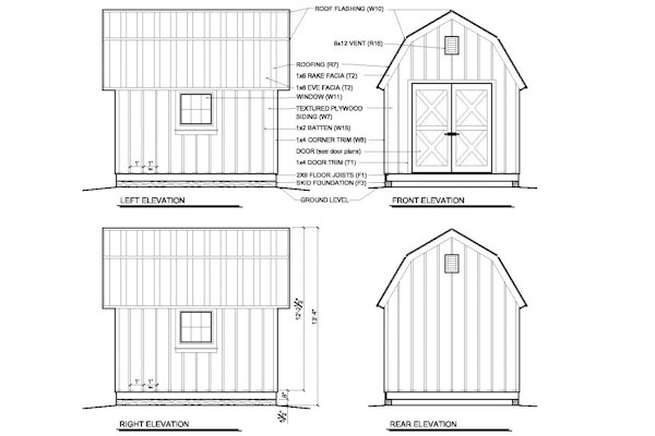 Sheds Ottors: 10x12 gambrel shed plans 10 Guide