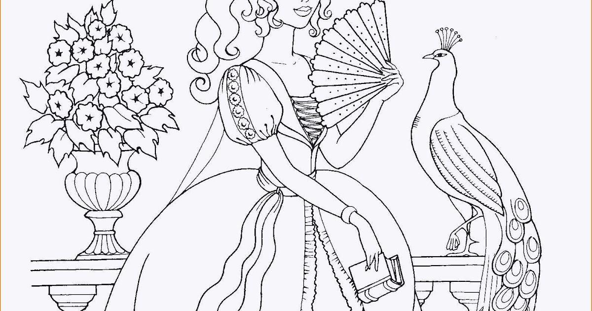 Ausmalbilder Prinzessin Schwer - Kostenlose Malvorlagen