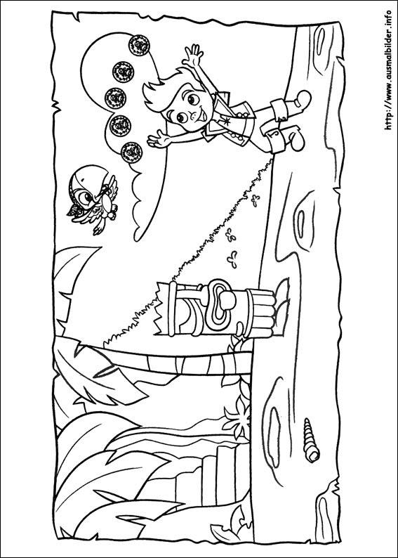 Malvorlagen Jake Und Die Nimmerland Piraten Kostenlos