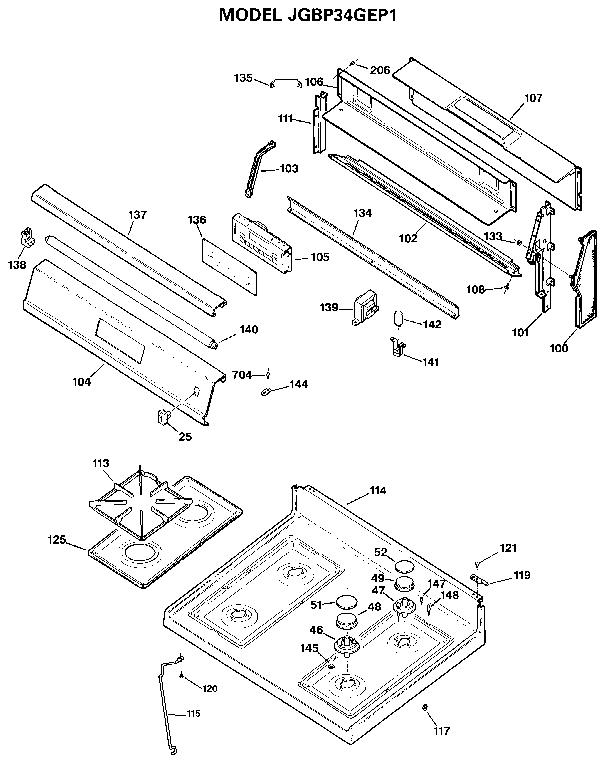 Wiring Diagram: 31 Ge Xl44 Parts Diagram