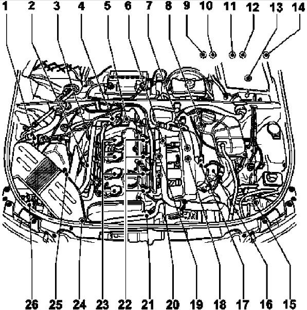 1: Audi 18 T Engine Diagram