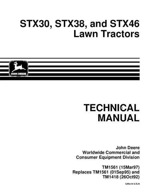Pdf Download john deere stx38 service manual download