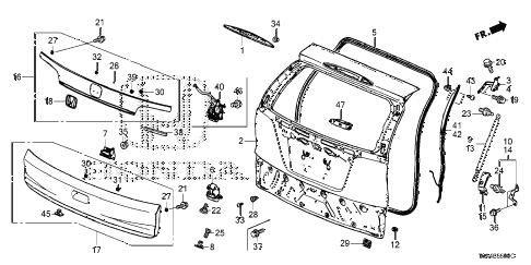 Wiring Diagram: 33 Honda Crv Parts Diagram