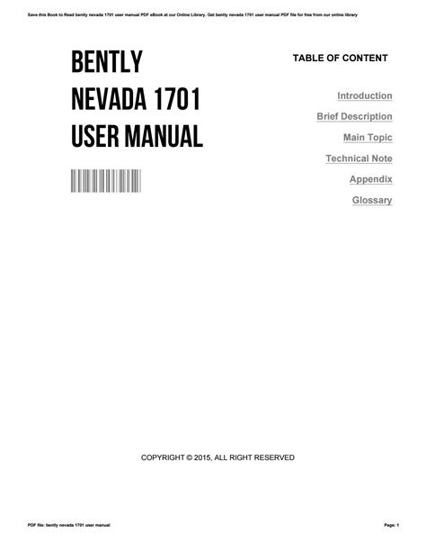 Download Link bently nevada 1701 user manual Free E-Book