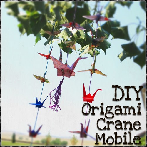 Elysian Studios Making A Tasseled Origami Crane Mobile