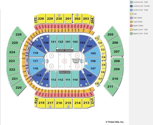 small resolution of gila river arena hockey seating chart 2