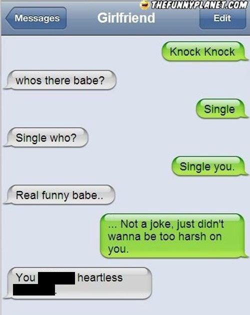 Cute Joke For Girlfriend : girlfriend, Knock, Jokes, Girlfriend
