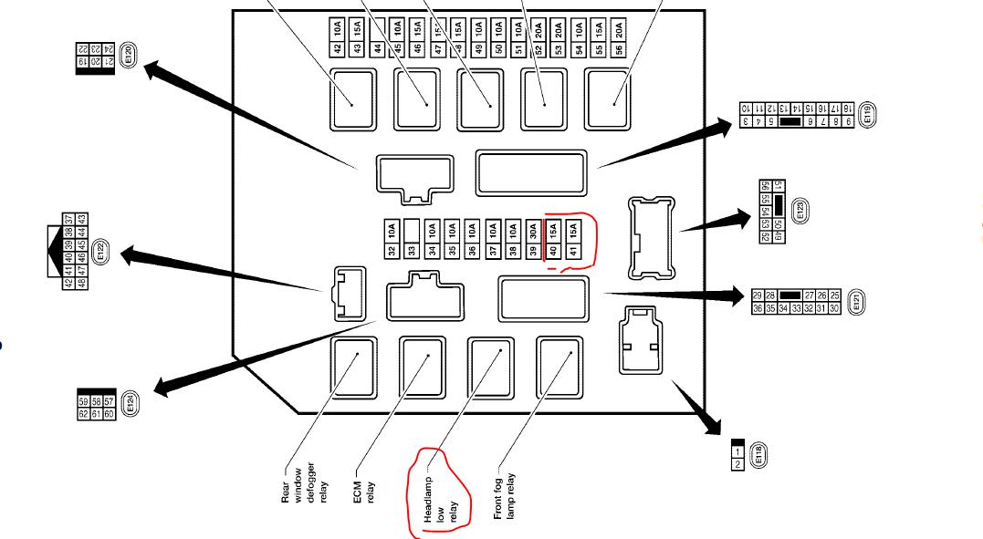 2005 Nissan Xterra Fuse Box Diagram