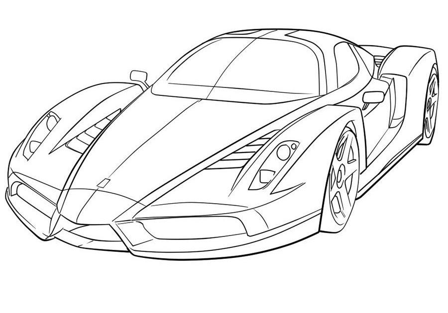 Malvorlage Ferrari